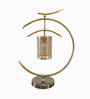 The Yellow Door Gold Brass Crescent Table Lamp