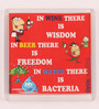 Thoughtroad Red Plastic & Paper In Wine There Is Wisdom Fridge Magnet