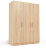 Three Door Wardrobe in Swiss Elm Finish in MDF by Primorati