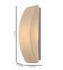 Tisva White Mild Steel & Glass Ebner Wall Light