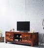 Kalama Entertainment Unit in Honey Oak finish by Woodsworth
