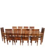 Transitional Ten Seater Dining Set in Brown Color by Afydecor