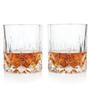 True Viski Admiral Crystal Liquor Whisky Tumbler Glasses - Set of 2