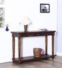 Trydelt Console Table in Provincial Teak Finish by Amberville