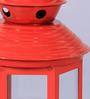 Tu Casa Red Metal Festive Lantern