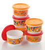 Tupperware Disney Orange Round 150 ML Snack Cups with Lid - Set of 6