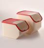 Tupperware White Assorted Airtight Storage - Set of 2