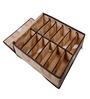 UberLyfe Brown Polyester and Cardboard 3-Piece Cloth/Underwear Organizer Box with Lid Set