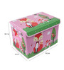 UberLyfe Blue & Pink Foldable Kids Storage and Toy Box - Set of 2 (Design - Owls & Fox)