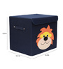 UberLyfe Kids Storage Box with Fiesty Orange Lion Applique - Medium