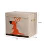 Uberlyfe Mbox Medium Animal Carnival Kids with Kangaroo Graphic Polyester & Cardboard 7 L Storage Box