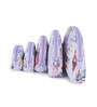 Uberlyfe Women's Big Ben & Eiffel Tower Multipurpose Leather Pink & Purple Pouch - Set of 10