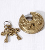 Unravel India Ganesha Lakshmi Brass Lock