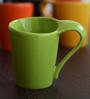 Unravel India Multicolour Stoneware 150 ML Coffee Cup - Set of 6