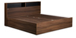 Urban King Bed with Storage in Acacia Dark & Black Finish by Debono