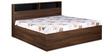 Urban Queen Bed with Storage in Acacia Dark & Black Finish by Debono