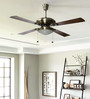Usha Fontana One Antique Brass Ceiling Fan with Light