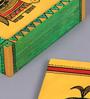 Vareesha Ethnic Hand Crafted Yellow MDF Coaster with Holder - Set of 6