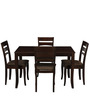 Victor Four Seater Dining Set in Walnut Finish by Royal Oak