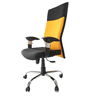 Victor High Back Ergonomic Chair in Yellow & Black Colour by Starshine