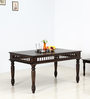 Visikha Six Seater Dining Table in Warm Chestnut Finish by Mudramark