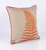 Vista Home Fashion Brown & Orange Cotton 18 x 18 Inch Indian Embroidered Cushion Cover
