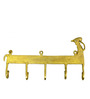Vyom Shop Brass 5 Hook Camel Face Key Holder