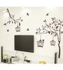 WallTola PVC Vinyl Tree with Birds & Cages Wall Sticker