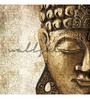 Wallskin Golden Non Woven Paper Meditating Buddha Wallpaper