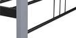 Web Wrought Iron Single Bed in Grey Colour by Evok