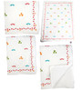 Cocobee White Doves Print Baby Quilt in White Colour