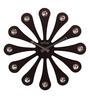 Wood Craft Black Glass & MDF 15.9 Inch Round Wall Clock