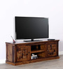 Woodway Entertainment Unit in Provincial Teak Finish by Woodsworth