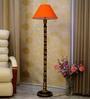Woody Lamp House Orange Poly Cotton Floor Lamp