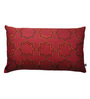 Yamini Gold & Maroon Cotton 20 x 12 Inch Moroccan Embroidered Cushion Cover