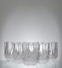Yujing Lyric Diamond Rock 270 ML Glasses - Set of 6