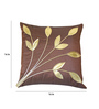 Zikrak Exim Brown Polyester 16 x 16 Inch Cushion Covers - Set of 5