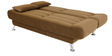 Zuri supersoft Sofa bed in Medium Brown colour by Furny